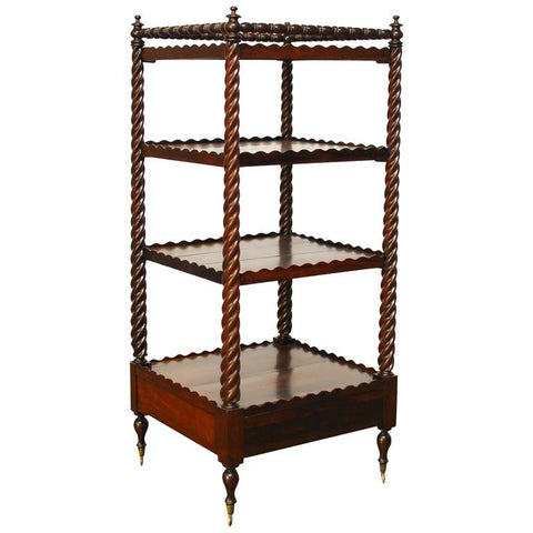 19th Century English Regency Mahogany Étagère