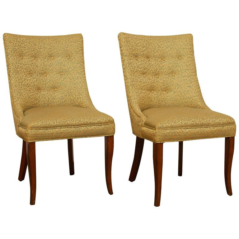 Mid Century Modern Scoop Back Chairs