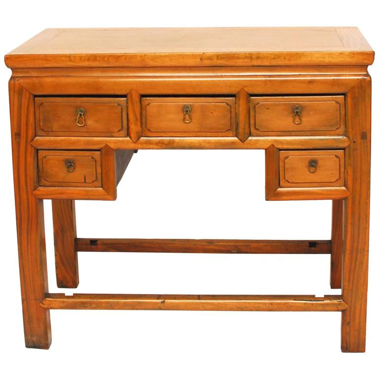 Chinese 5 Drawer Hardwood Desk