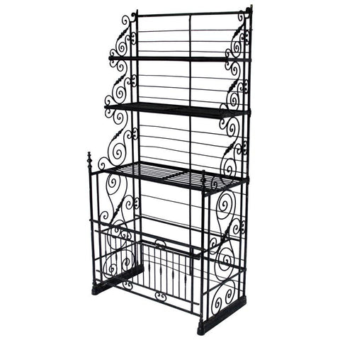 Wrought Iron French Bakers Rack
