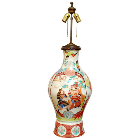 Chinese Porcelain Urn Table Lamp