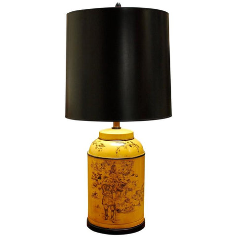 Frederick Cooper French Tea Canister Tole Lamp