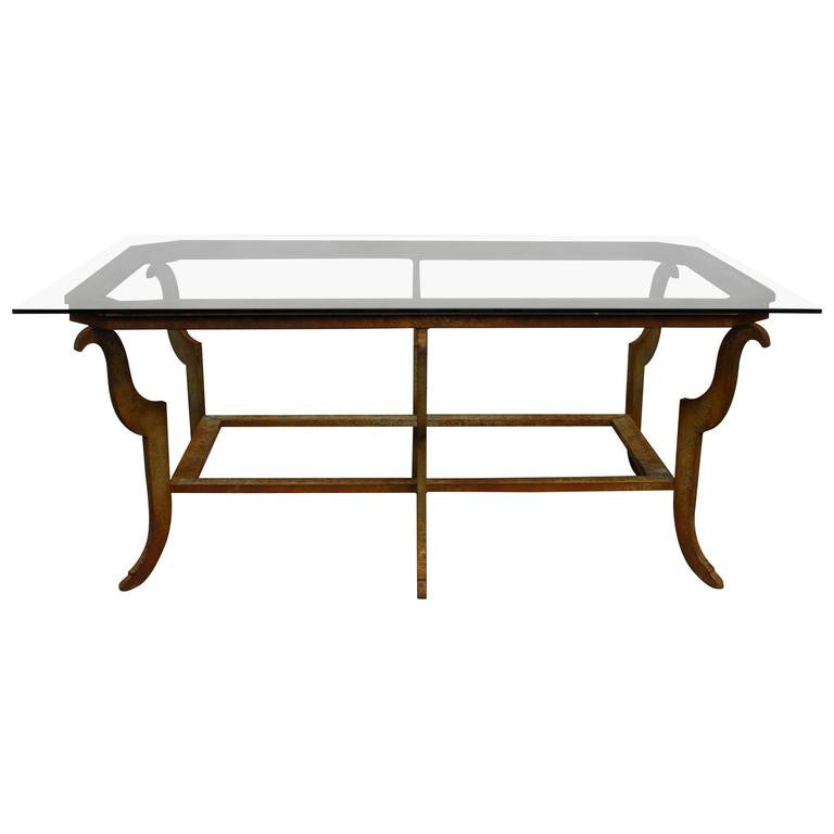Sculpted Steel Patinated Coffee Table