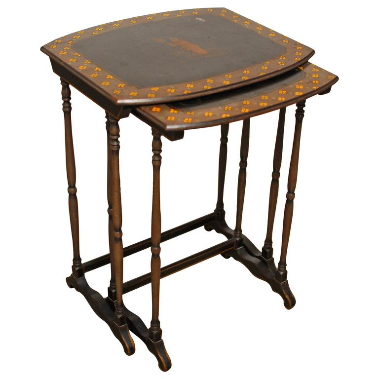 English Regency Chinoiserie Nesting Tables