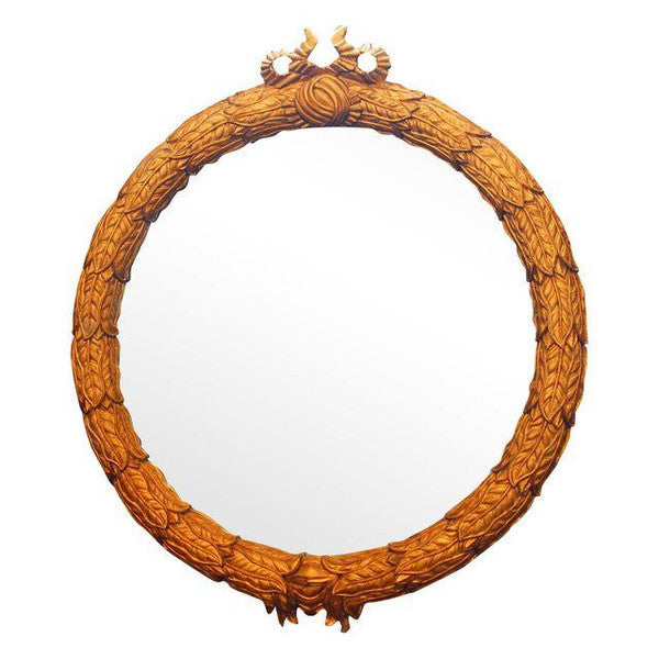 Vintage Monumental Hollywood Regency Gilded Round Mirror by Ferguson Copeland