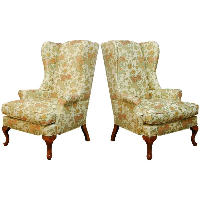 George II Style Wingback Chairs