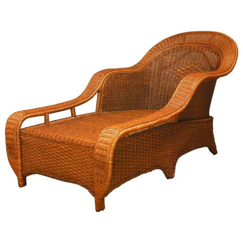 French Style Wicker Chaise Lounge By Palecek
