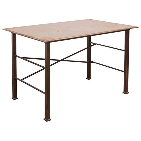Modern Industrial Steel Desk Work Table