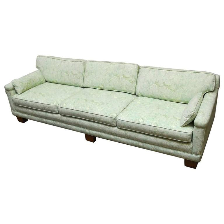 Mid-Century Modern Sofa Upholstered in Fortuny Fabric