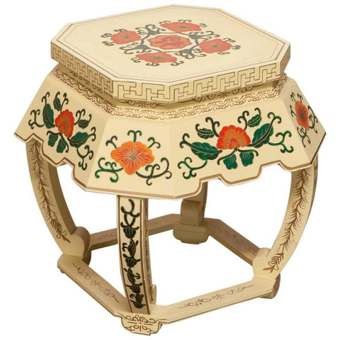 Chinese Lacquer Garden Stool or Plant Stand