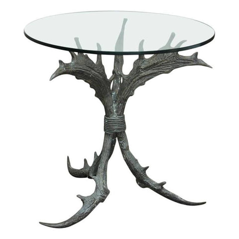 Bronze Antler Side Table