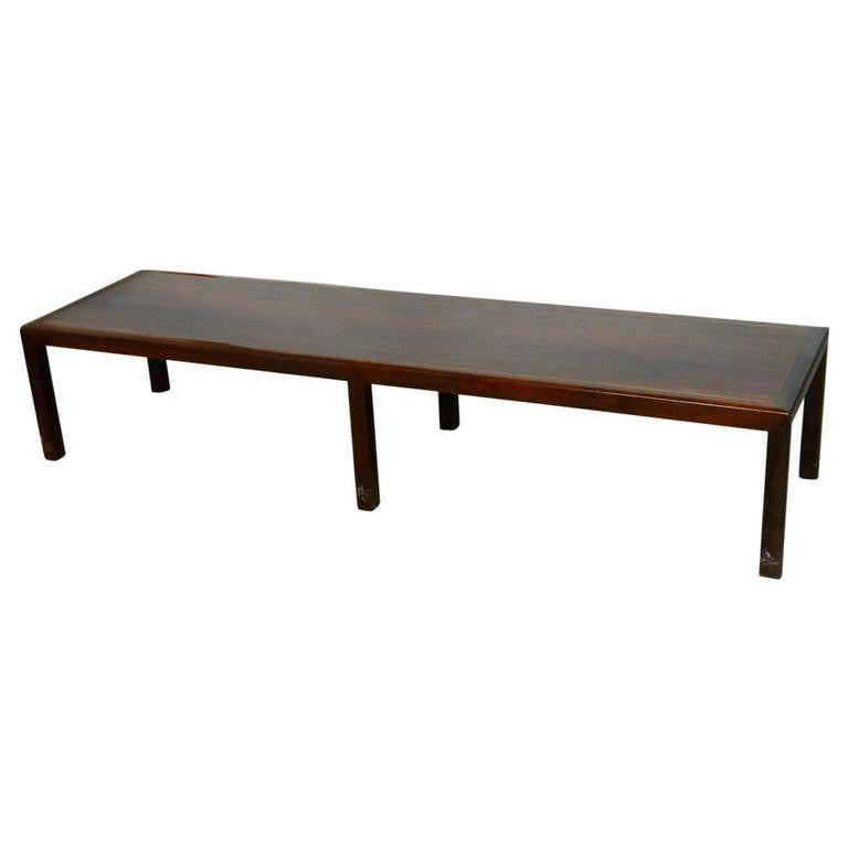 Mid-Century Mahogany Bench Coffee Table