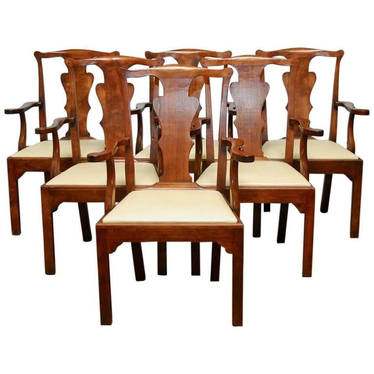 Set of Six George III Walnut Dining Chairs