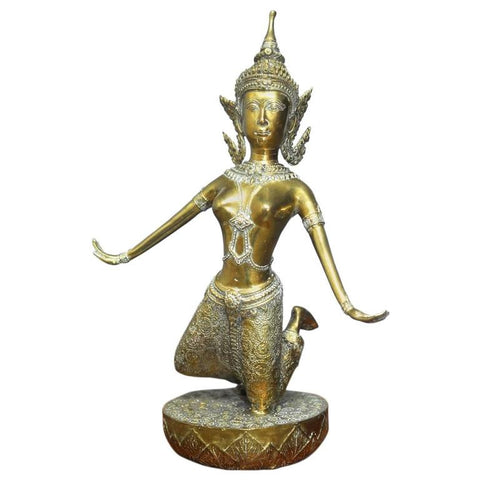 Thai Gilt Bronze Buddhist Figure of Khon Dancer