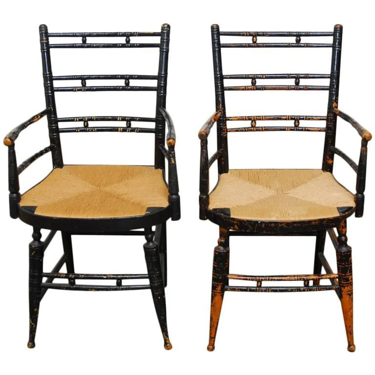 Pair of 19th Century Bamboo Fancy Armchairs