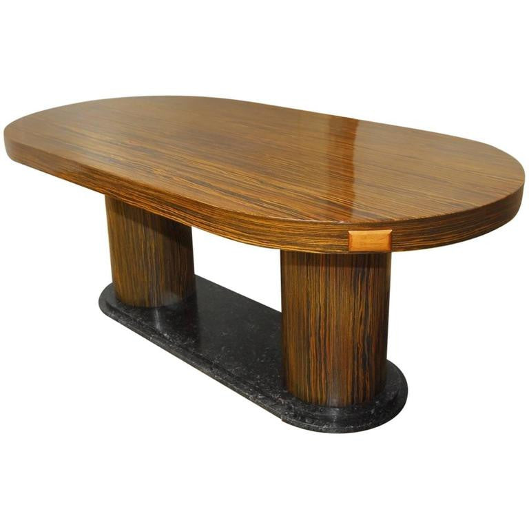 Modern Italian Zebrawood Conference Table or Dining Table
