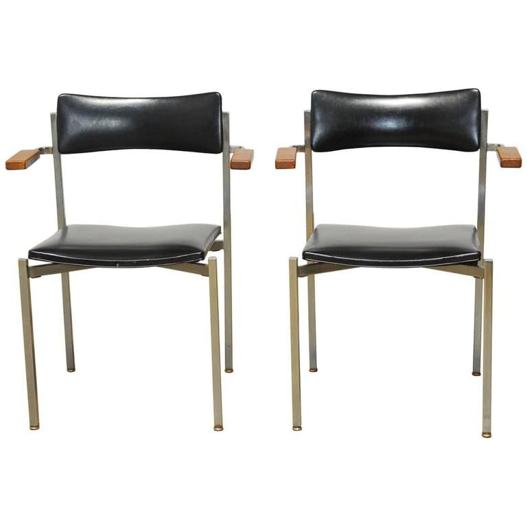Pair of Mid-Century Office Chairs by Frederic Weinberg