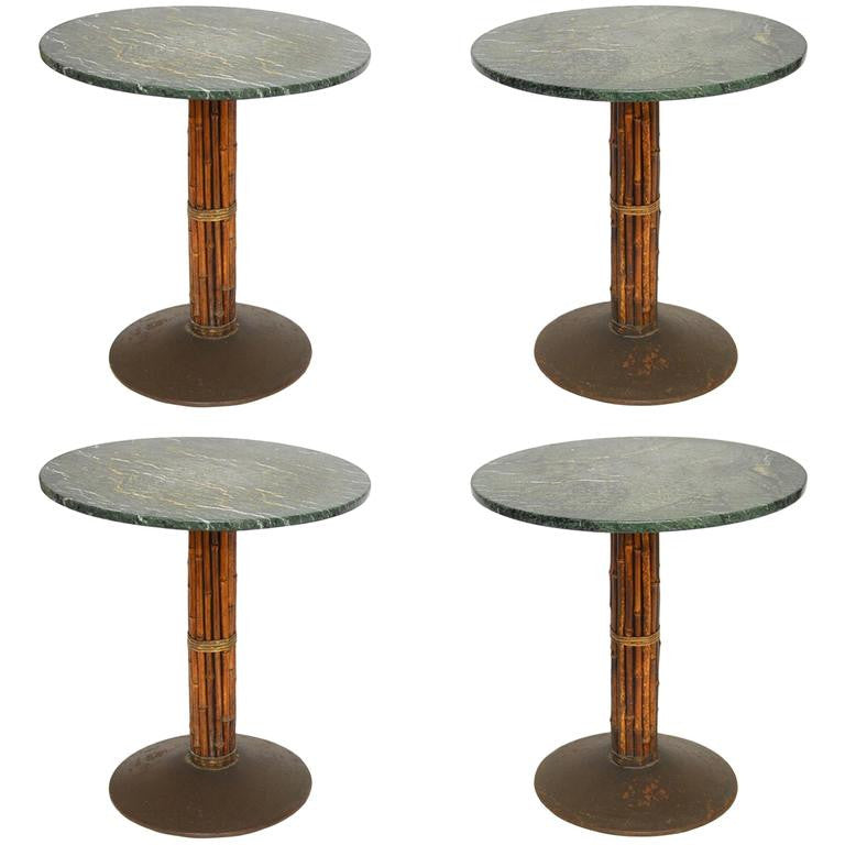 McGuire Bamboo And Marble Bistro Tables