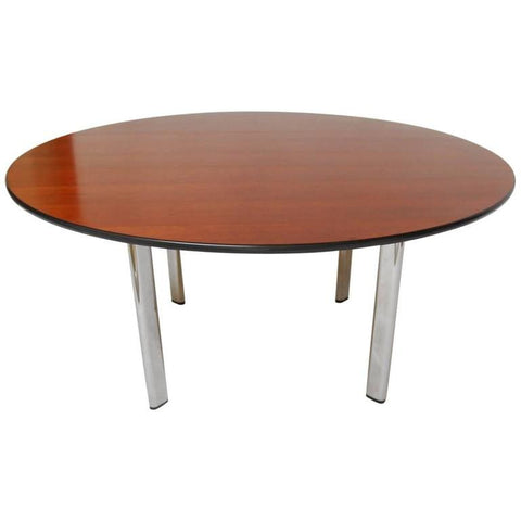 Round Cherry Dining Table by Joe D'urso for Knoll