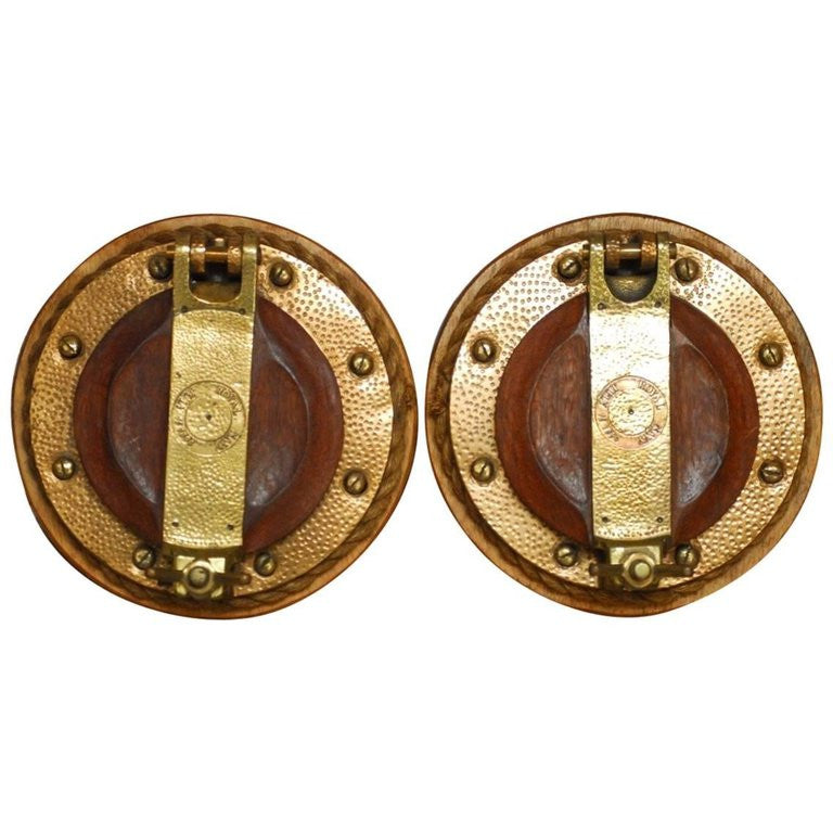 Pair of British Royal Navy Brass Ships Portholes