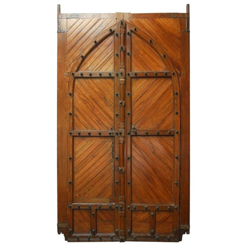 18th Century Moorish Castle Gatehouse Doors from Spain