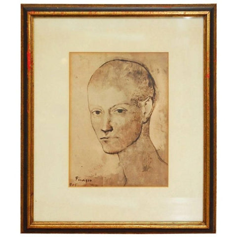 "Pablo Picasso ""Head of Boy"" Framed Print"