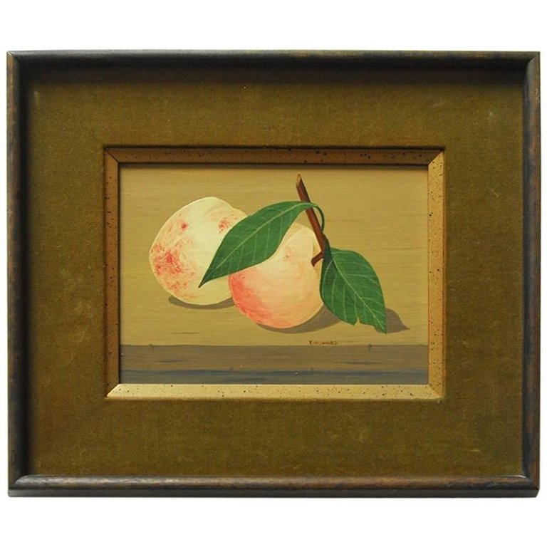 "Mid-Century Still Life ""Two Peaches"" by K. Howard"