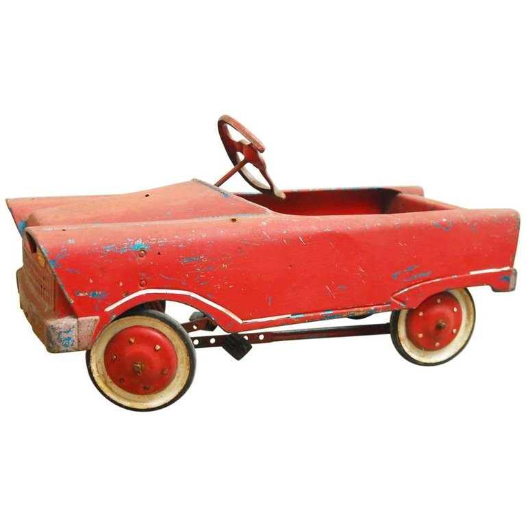 Vintage American Murray Red Child's Roadster Pedal Car