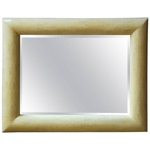 Large Tessellated Bone Beveled Mirror