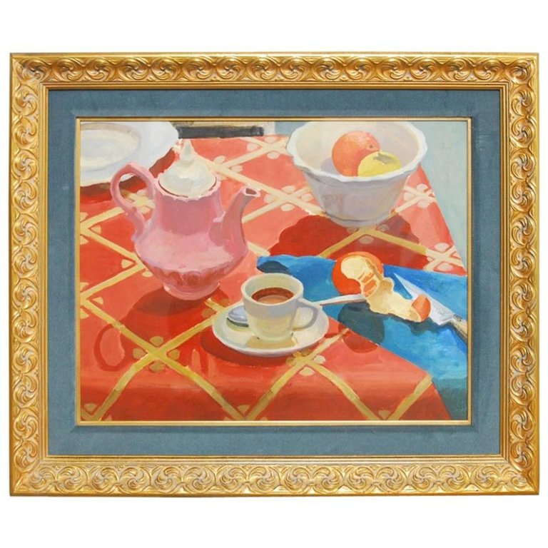 Breakfast Still Life Watercolor Painting by Lisa Esherick