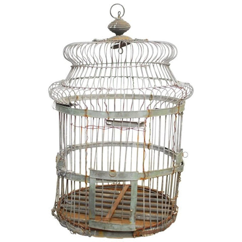 19th Century French Zinc Bird Cage