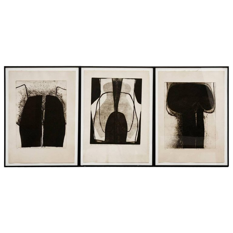 Set of Three Framed Abstract Prints