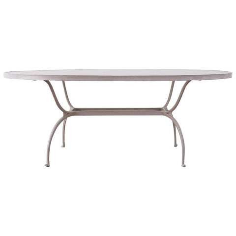 Brown Jordan Neoclassical Style Aluminum Patio Garden Table