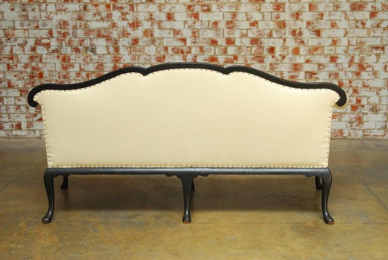 Sensational 19Th Century Chinese Chippendale Black Lacquer Chinoiserie Sofa Erin Lane Estate Pdpeps Interior Chair Design Pdpepsorg