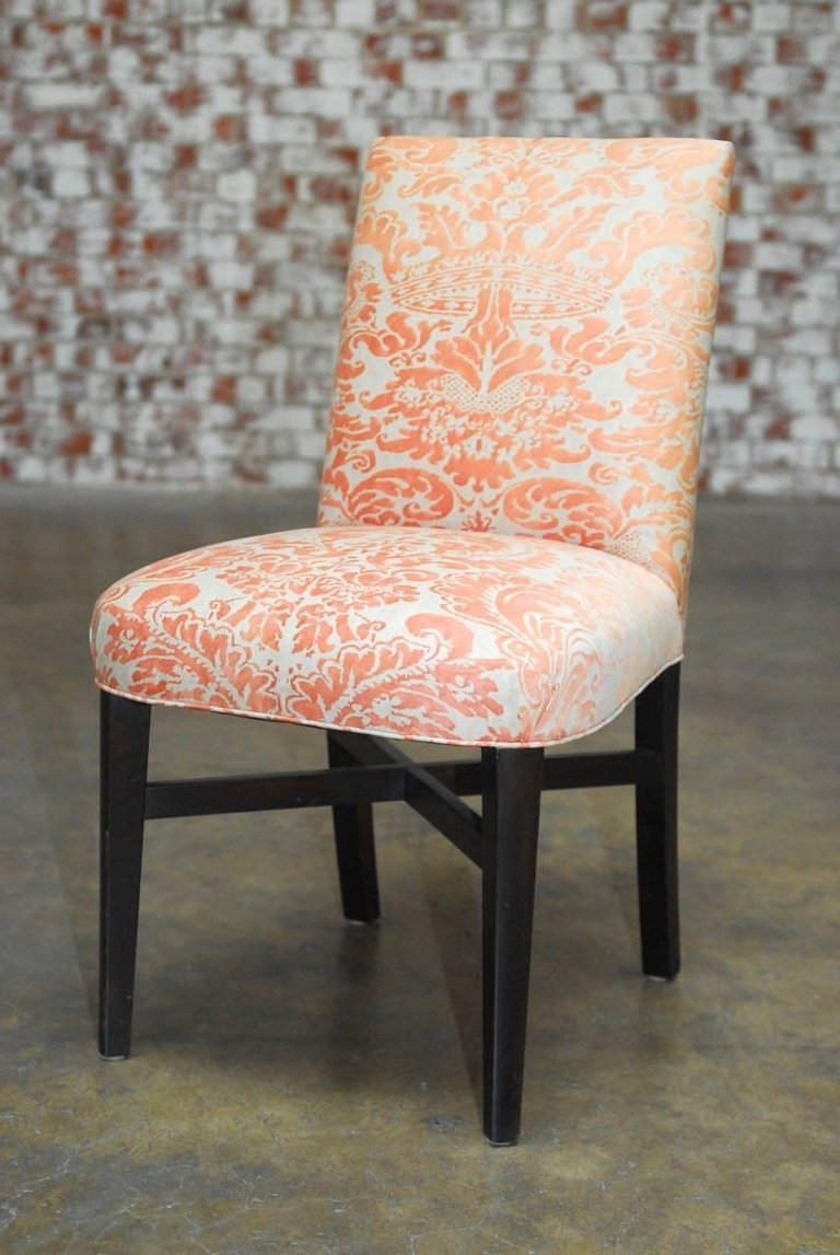 upolstered dining chairs. Set Of Eight Fortuny Corone Upholstered Dining Chairs Upolstered