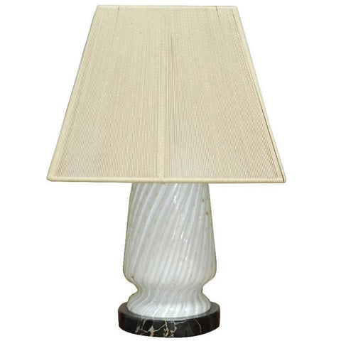 Italian Art Deco Murano Glass and Marble Lamp