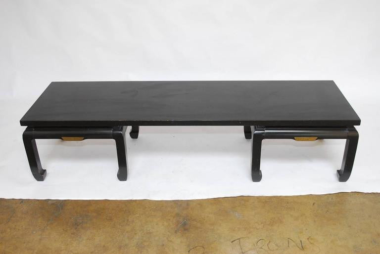 James Mont Style Mid Century Lacquered Coffee Table