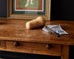 Rustic English Pine Library Table or Farm Table