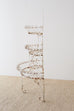 French Demilune Three-Tier Iron Wire Plant Stand