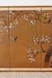 Japanese Four-Panel Screen of Birds in Prunus
