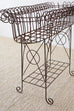French Art Nouveau Faux-Rope Wire Plant Stand