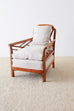 English Chinoiserie Chippendale Style Lacquered Armchair
