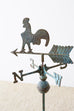 Americana Rooster or Cockerel Directional Weathervane on Stand