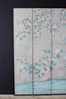 Chinoiserie Painted Silver Leaf Six-Panel Wallpaper Screen