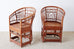 Set of Four Brighton Pavillion Style Bamboo Armchairs