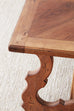 18th Century Italian Baroque Inlay Walnut Trestle Table