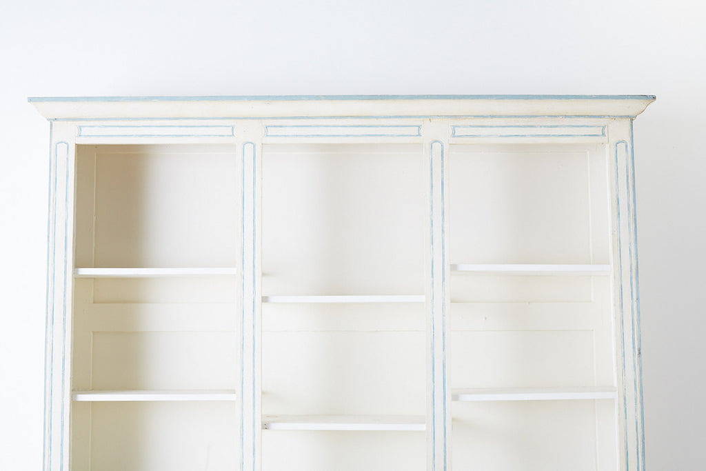French Provincial Style Painted Open Shelf Cabinet Bookcase Erin Lane Estate