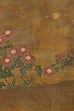 Japanese Four-Panel Flowers of Autumn Byobu Screen
