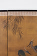 Japanese Four-Panel Screen Blue Herons on Willow Tree