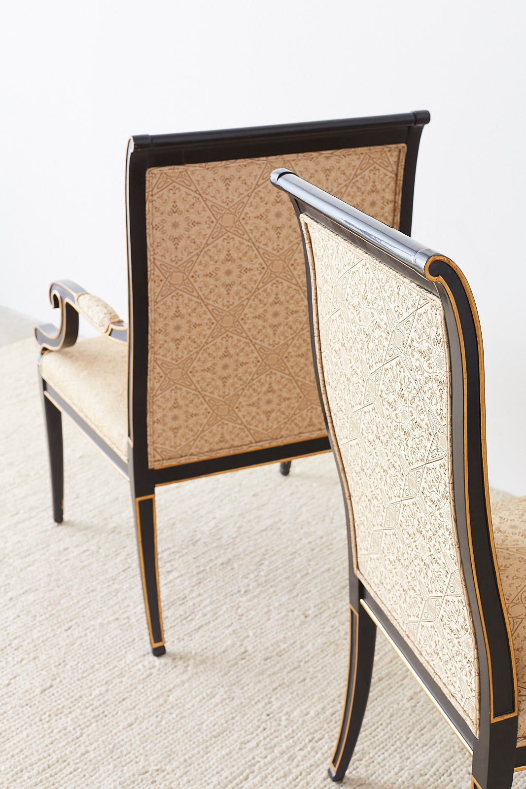 Set of Ten Karges English Regency Style Dining Chairs